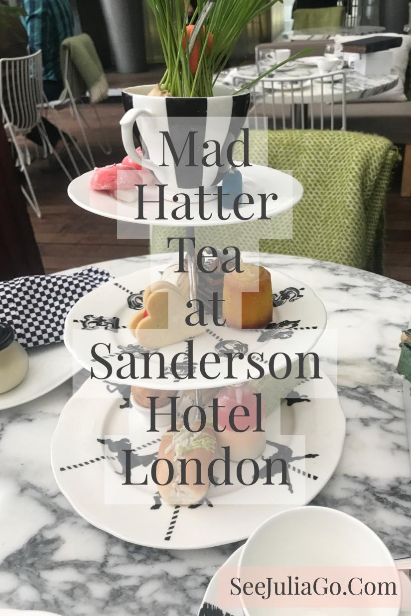 Mad Hatter Tea Sanderson Hotel